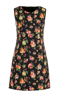 Мини-платье с цветочным принтом Dolce & Gabbana
