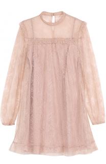 Мини-платье с кружевной отделкой REDVALENTINO
