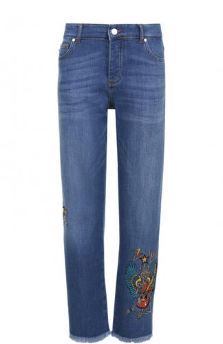 Укороченные джинсы прямого кроя с вышивкой Zadig&Voltaire