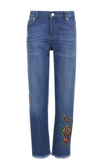 Укороченные джинсы прямого кроя с вышивкой Zadig&Voltaire Zadig&Voltaire