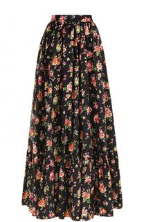 Юбка-макси с цветочным принтом Dolce & Gabbana