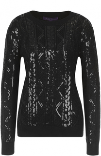 Шелковый пуловер с вышивкой Ralph Lauren