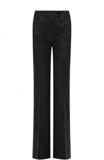 Расклешенные брюки с фактурной отделкой Kiton