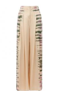 Шелковые брюки с принтом Raquel Allegra