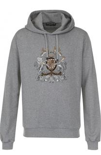 Хлопковое худи с вышивкой Dolce & Gabbana