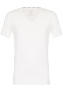 Хлопковая футболка с V-образным вырезом Calvin Klein
