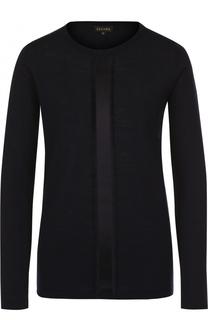 Шерстяной пуловер с декоративной отделкой Escada