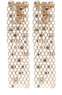 Серьги-клипсы с отделкой из кристаллов Lanvin