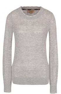 Вязаный пуловер из смеси шерсти и кашемира Burberry