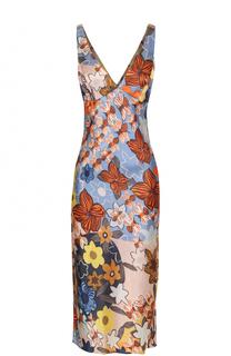 Платье-миди с принтом без рукавов Acne Studios