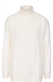Вязаный пуловер из смеси шерсти и кашемира Escada