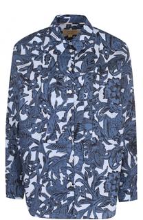 Блуза прямого кроя с принтом Burberry