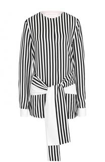 Блуза в контрастную полоску с поясом Victoria by Victoria Beckham