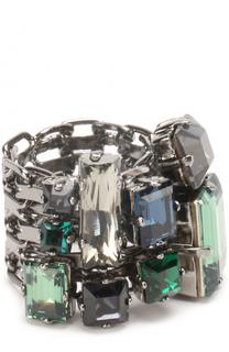 Кольцо с отделкой из кристаллов Lanvin