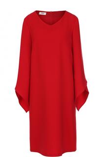 Платье прямого кроя с объемными рукавами Weill