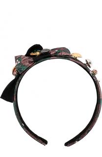 Ободок с бантами с декором Dolce & Gabbana