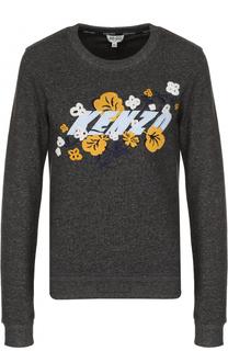 Хлопковый пуловер с принтом Kenzo