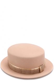 Фетровая шляпа Auguste с лентой Maison Michel