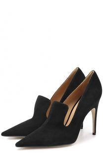 Замшевые туфли с фигурным вырезом Sergio Rossi