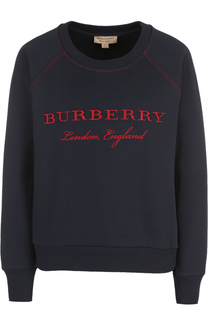 Хлопковый свитшот с принтом Burberry
