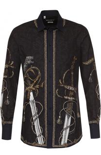 Хлопковая рубашка с принтом Dolce & Gabbana