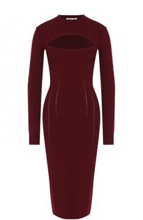 Обтягивающие платье-миди с вырезом MCQ