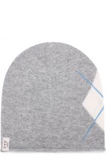 Кашемировая шапка с узором FTC