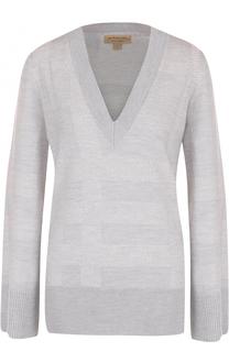Вязаный пуловер из смеси шерсти и шелка Burberry