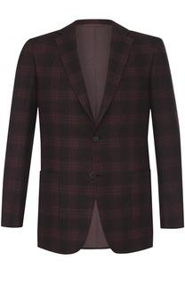 Однобортный пиджак из смеси шерсти и кашемира Brioni