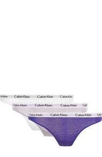 Комплект из трех пар трусов-стрингов Calvin Klein