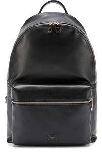 Кожаный рюкзак Vulcano с внешним карманом на молнии Dolce & Gabbana