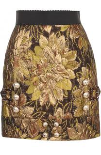 Мини-юбка с декоративной отделкой Dolce & Gabbana
