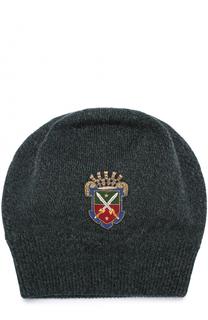 Шерстяная шапка с вышивкой Dolce & Gabbana