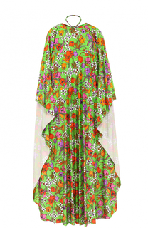 Платье-макси свободного кроя с ярким принтом Balenciaga