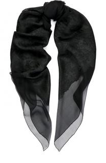 Платок из шелка и вискозы с вышивкой Elie Saab
