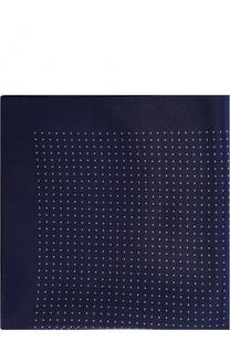 Шелковый платок с узором BOSS
