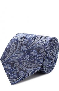 Шелковый галстук с узором пейсли BOSS
