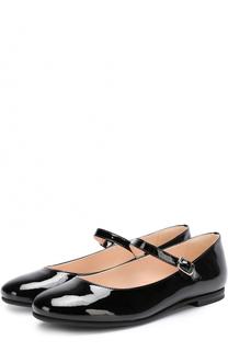 Лаковые туфли с ремешками Il Gufo