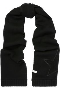 Кашемировый шарф с аппликацией FTC