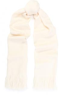 Шерстяной шарф с бахромой Escada Sport