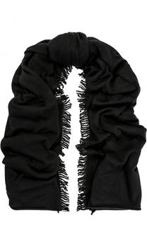 Кашемировый шарф с бахромой FTC