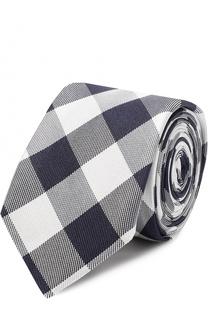 Шелковый галстук в клетку BOSS