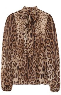 Полупрозрачная блуза из шелка Dolce & Gabbana