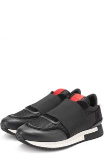 Комбинированные кроссовки с эластичной вставкой Givenchy