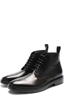 Высокие кожаные ботинки на шнуровке Balenciaga