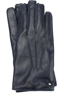 Кожаные перчатки с кашемировой подкладкой Valentino