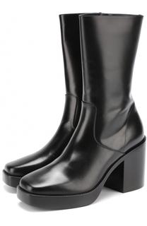 Кожаные сапоги на массивном каблуке Balenciaga