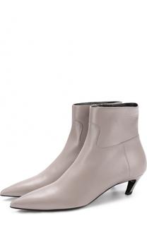 Кожаные ботильоны на фигурном каблуке kitten heel Balenciaga