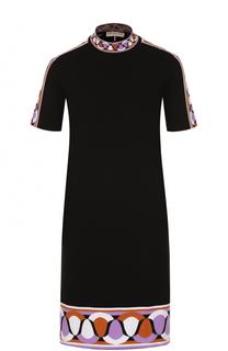Платье-миди с декоративной отделкой Emilio Pucci