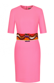 Платье из смеси шерсти и шелка с поясом Emilio Pucci
